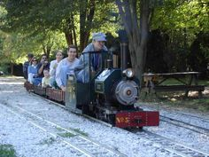 Enjoy a free ride on a miniature train on the second Sunday of each month from April to November.