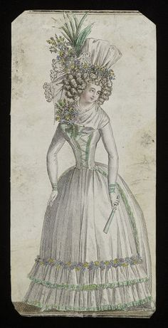 Fashion plate, 1790 | V&A Search the Collections