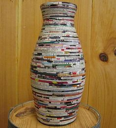 Vase Vases can be built out of old magazines....