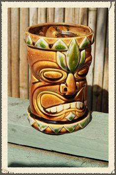Tiki mug Green Gold via Etsy