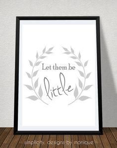 Let them be Little Digital Print on Etsy, $2.00