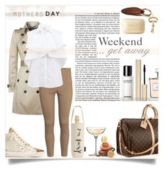 """""""spend some time together on a weekend getaway"""" by sophie-martina ❤ liked on Polyvore featuring Waterford, Kate Spade, Golden Goose, Burberry, H&M, Chanel, Giambattista Valli, Ralph Lauren, Dolce&Gabbana and Tom Ford"""