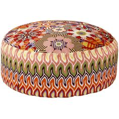 Missoni Home Naima/Nadaun Beanbag Pouf - DD059 - 35x80cm ($719) ❤ liked on Polyvore featuring home, furniture, ottomans, ottoman, fillers, pillow, multi, beanbag furniture, floral furniture and floral ottoman