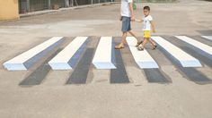 The Indian government may use 3D paintings as virtual speed-breakers on major highways and roads.