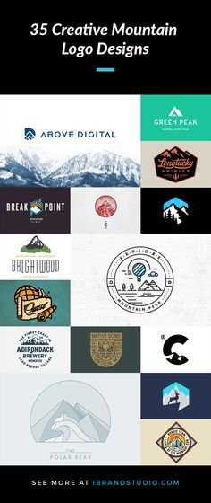 A Collection Of 35 Creative Mountain Logo Designs For Inspiration