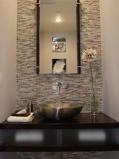 Fabulous Small Bathroom/Modern Powder Room