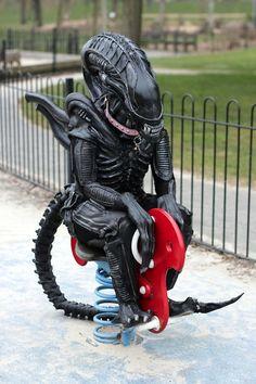 Alien Enjoys a Little Down Time In The Park