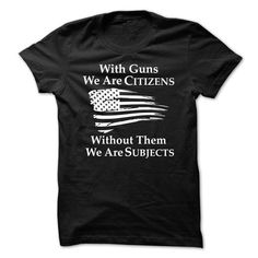 With Guns - #southern tshirt #tshirt jeans. OBTAIN LOWEST PRICE => https://www.sunfrog.com/Political/With-Guns.html?68278