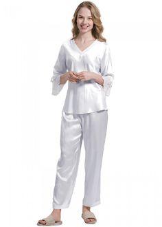 100% #Silk #Womens Two Piece #Pajamas Set - OOSilk