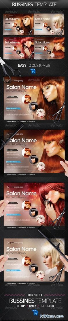 Hair Salon PRO Bussines Promotional Flyer - ss flyer club simple line cool