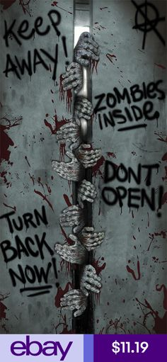 129 World`s Insanest Scary Halloween Haunted House Ideas - scary door decorations for halloween