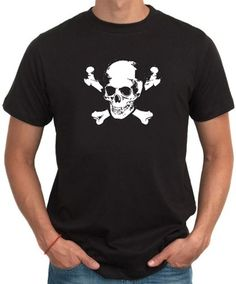 Men T-Shirt Skull And Crossbones