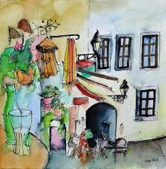Tulip 2 by zzen on DeviantArt Urban Sketchers, Bratislava, Old Town, My Works, Sketches, Watercolor, Ink, Deviantart, Traditional