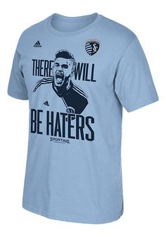 Dom Dwyer 14 Sporting Kansas City Adidas Mens Short Sleeve There will be Haters T-Shirt - Smokeblue
