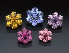 Assorted Snowflake Cut Sapphires