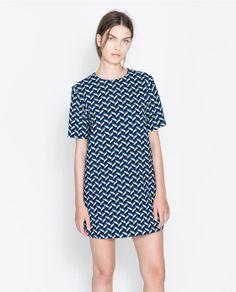 RETRO PRINTED DRESS / Zara