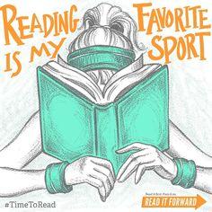 Reading is my favorite sport!
