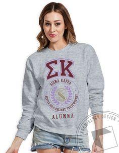 Sigma Kappa - Vintage Crew Neck Sweatshirt by ABD BlockBuy! Available until 5/28, $15-$20  Adam Block Design   Custom Greek Apparel & Sorority Clothes  www.adamblockdesign.com