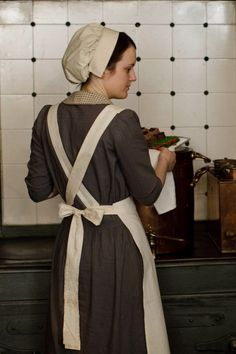 Downton Abbey series four pictures Daisy in the kitchen