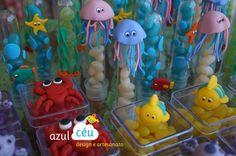 Animais marinhos em biscuit