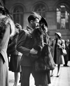 Beautiful and sad. (you may want to get the tissues if you're anything like me). A series of photographs by Alfred Eisenstaedt (see Kissing...