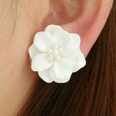 Gold Hoop Earrings, Bridal Earrings, Flower Earrings, Crystal Earrings, Women's Earrings, Earring Studs, Earring Set, Jewelry Gifts, Fine Jewelry