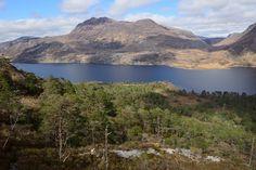 The view across Loch Maree towards Slioch from Beinn Eighe NNR