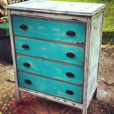 Painted dresser made by my Sister Cousin!
