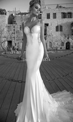 2016 Boho Style Wedding Dresses For Bride Sweetheart Strap Sheers Back Mermaid Wedding Dress Embroidered vestido de novia sirena