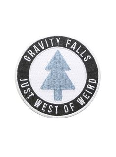 Gravity Falls Just West Of Weird Iron-On Patch, , hi-res Cool Patches, Pin And Patches, Iron On Patches, Jacket Patches, Gravity Falls Dipper, Tree Logos, Fandoms, Embroidery Patches, Fall Diy