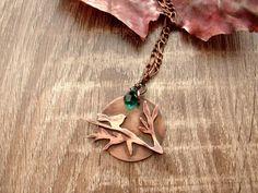 Necklace Copper Pendant Bird on Branch by CopperyArt on Etsy