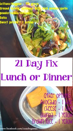 21 Day Fix Taco Salad lunch or dinner http://www.facebook.com/coachrgames