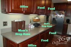 Kitchen Desk Area Zones   You can make a drop zone for your kids in a back hall in one day. Let me show you how!
