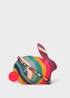 Women's 'Swirl' Print Leather 'Rabbit' Cross-Body Bag Paul Smith