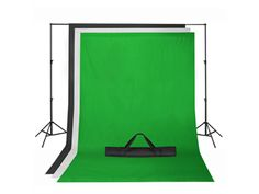 Chroma Key Green Screen with Black and White Backdrop stand Kit Photography Set $98