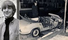 At the height of the Swinging Sixties, Tara Browne, 21 year old heir to the Guinness fortune, was killed instantly when he slammed his Lotus sports car into the side of a parked van at on a Chelsea street. John Lennon Lyrics, Beatles Lyrics, The Beatles, British Car, Great British, British History, Lotus Sports Car, Folk Bands, Swinging London