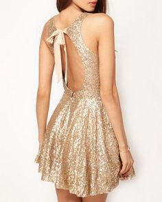 TFNC Gold Sequin Dress. Perfect for New Years!