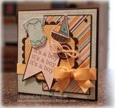 it's a boy... Baby boy card for fellow spouse in battalion