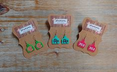 Different Types Of Earrings To Wear Clay Earrings, Leather Earrings, Leather Jewelry, Leather Craft, Silver Earrings, Silver Jewelry, Cute Jewelry, Diy Jewelry, Jewelry Making