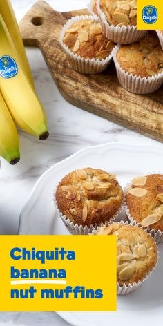 Chiquita banana nut muffins are chocked full of nuts and seeds to satisfy any craving.