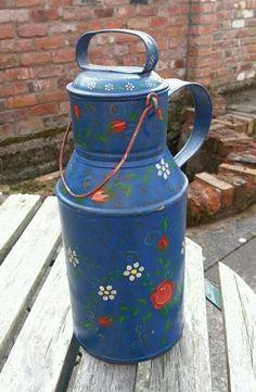 Original Vintage Bargeware Churn Water Carrier Milk Churn
