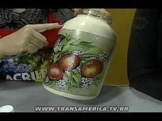 Tv Transamérica - Artesanato: Técnica de craquele em vidro em relevo - Parte 2 - YouTube
