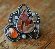 Ring | Allison Sattinger.   Sterling silver, agate