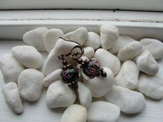 Floral Glass Bead Earrings by ZaZaJewels on Etsy, $11.00
