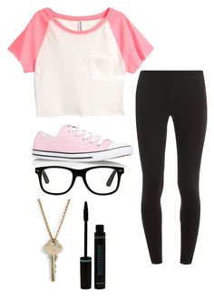 """Untitled #2001"" by if-i-were-famous1 ❤ liked on Polyvore featuring H&M, Splendid, Converse and The Giving Keys"