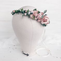 A personal favorite from my Etsy shop https://www.etsy.com/listing/250255700/blush-flower-crown-greenery-bridal
