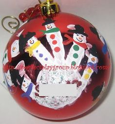 Mommy and Me Handprint Project   Fun Mommy and Me Crafts: Handprint Holiday Ornament Playdate