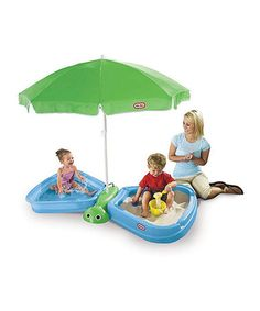 Butterfly Beach Sandbox & Wading Pool #zulily #zulilyfinds I will definitely be getting this for little man this summer =_
