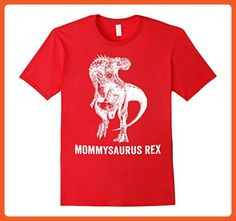 Mens Mommysaurus Rex T-Shirt - Funny Dinosaur Mother Large Red - Relatives and family shirts (*Partner-Link)