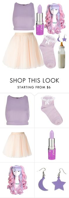 """Inspired By Melanie Martinez"" by callmemonse ❤ liked on Polyvore featuring River Island, Oasis, Moschino and Lime Crime"